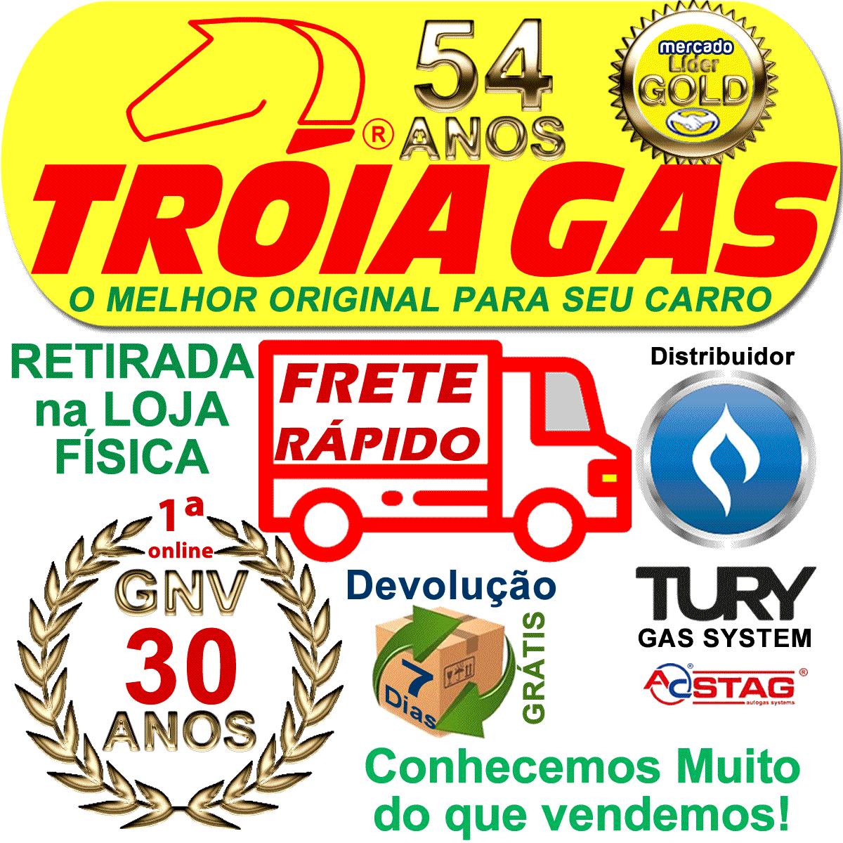 10 Filtros GNV 12 mm TROIAGAS Metal 5ª e 6ª geração protege bicos kits gás