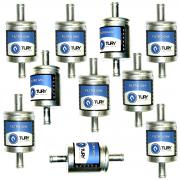 10 Filtros TURY GAS 5ª e 6ª geração GNV protege bicos STAG EMER e outros
