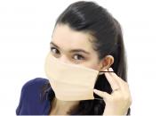 10 Máscaras de Proteção Duplo Tecido com Elástico Poliéster e Algodão