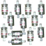 12 Filtros GNV 12 mm TROIAGAS 5ª e 6ª geração protege bicos maioria dos kits