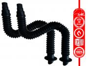 2 Tubos Extensíveis Corrugados com Flange de Ventilação para GNV