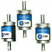3 Filtros GNV 12 mm TURY GAS 5ª e 6ª geração bicos STAG EMER OMVL e outros