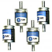 4 Filtros TURY GAS 5ª e 6ª geração GNV protege bicos STAG EMER e outros