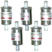 5 Filtros GNV 12 mm TROIAGAS 5ª e 6ª geração GNV protege bicos maioria dos kits