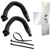 Conjunto Ventilação 2 Corrugados Extensíveis, Camisinha e Abraçadeiras