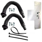 Conjunto Ventilação 2 Corrugados Extensíveis, Camisinha, Parafusos e Abraçadeiras