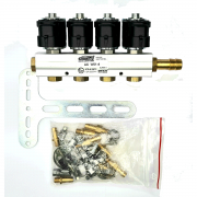Flauta 4 Bicos GNV 5ª geração Rampa STAG W01-4 TURY GAS