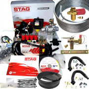 Kit 5ª Geração STAG 200 GoFast 4 TURY GAS + 2 Válvulas, Minuterias