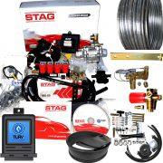 Kit 5ª Geração STAG 200 GoFast 4 TURY GAS + Variador + 2 Válvulas e Minuterias