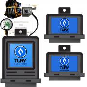 Kit GNV 3ª Geração Eletrônicos Comutadora, Variador, Emulador de Bicos e Simulador de Sonda