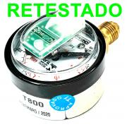 Manômetro T800 RETESTADO TURY GAS para comutadoras T1000 T1011 T1015 T1200 T3000