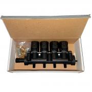Rampa 4 Bicos Injetores Flauta GNV 5ª geração VALTEK Emer TURY GAS