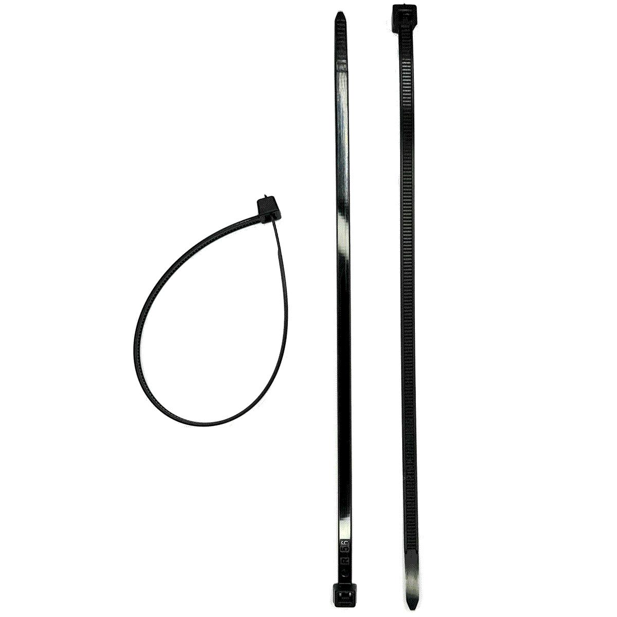 20 Abraçadeiras Plástica 200 mm Preta Clique Auto-travante