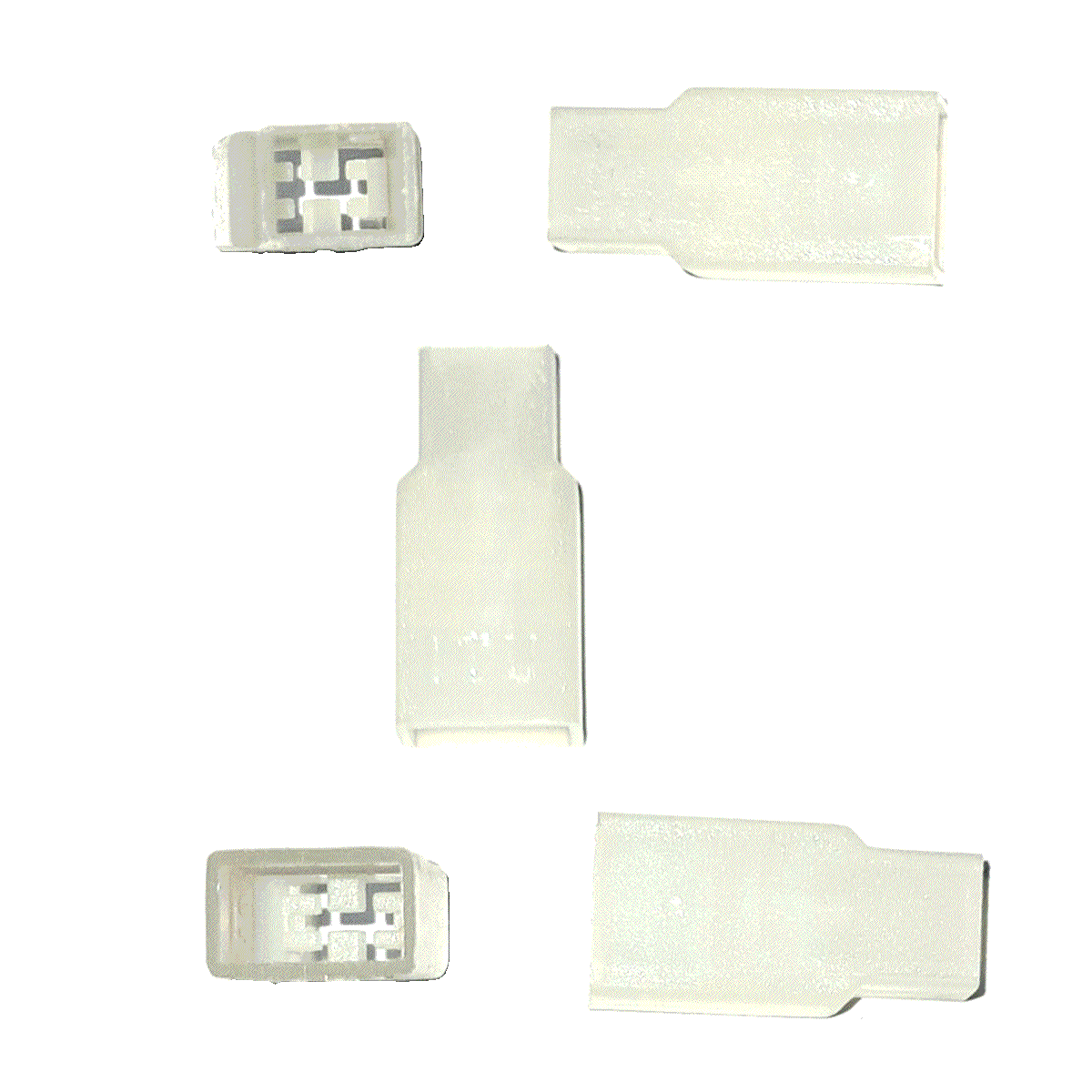 20 Capas Terminal Macho Curto 6,3mm Natural