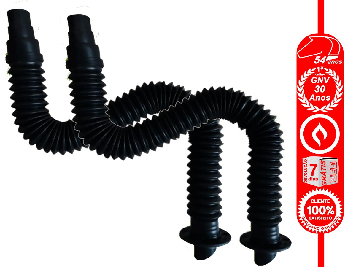 20 Tubos Extensíveis Corrugados com Flange de Ventilação para GNV