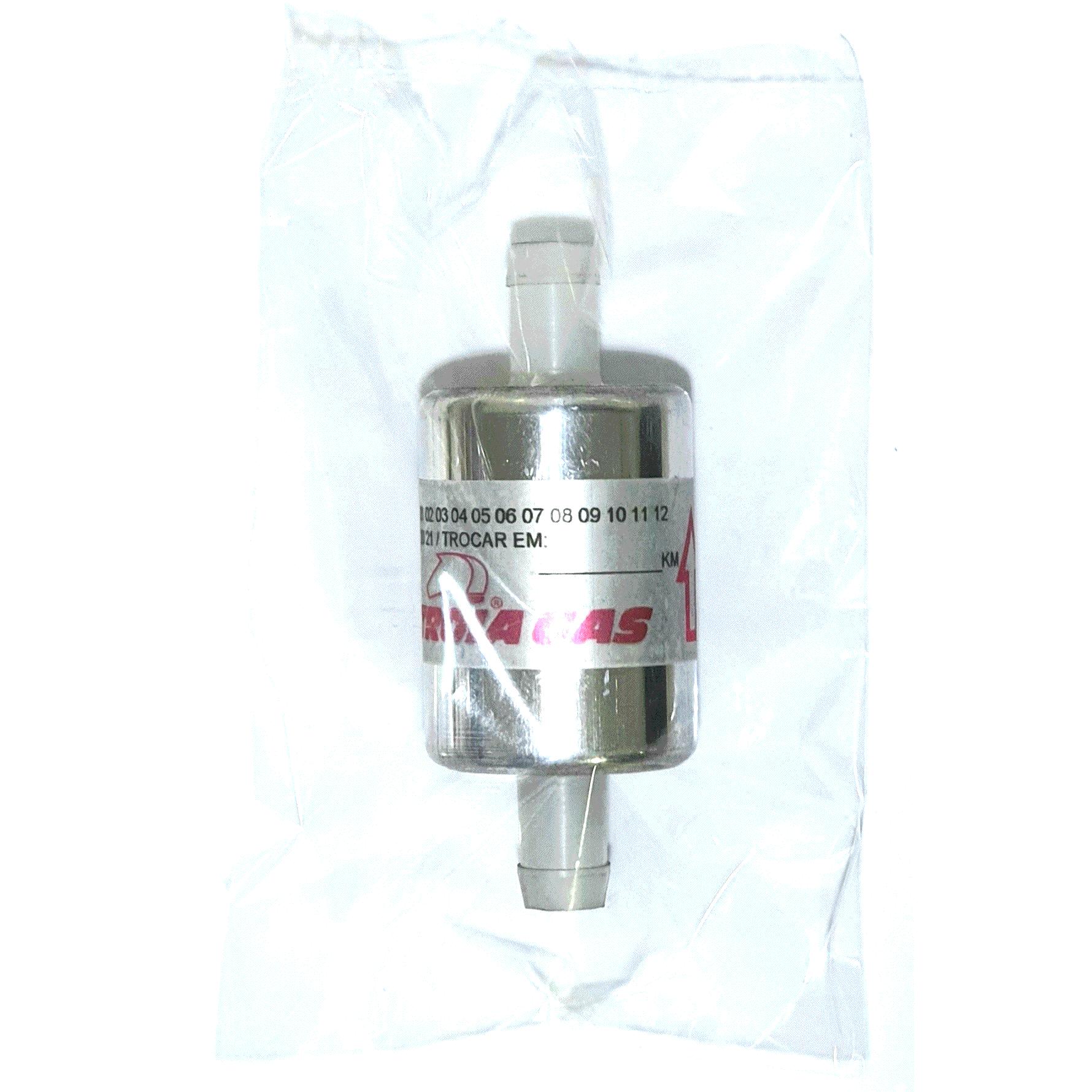 24 Filtros GNV 12 mm TROIAGAS 5ª e 6ª geração GNV protege bicos maioria dos kits