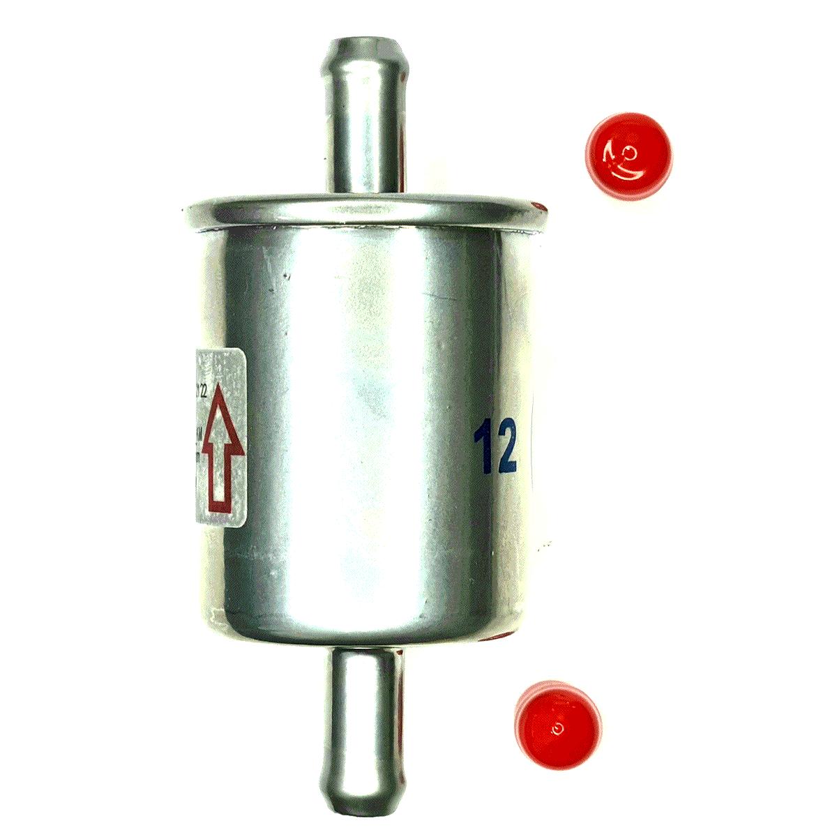 2 Filtros GNV 12 mm TROIAGAS Metal 5ª e 6ª geração protege bicos kits gás