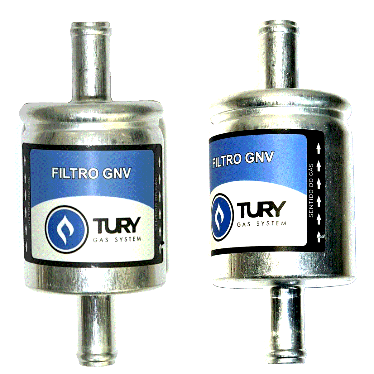 2 Filtros TURY GAS 5ª e 6ª geração GNV protege bicos STAG EMER e outros