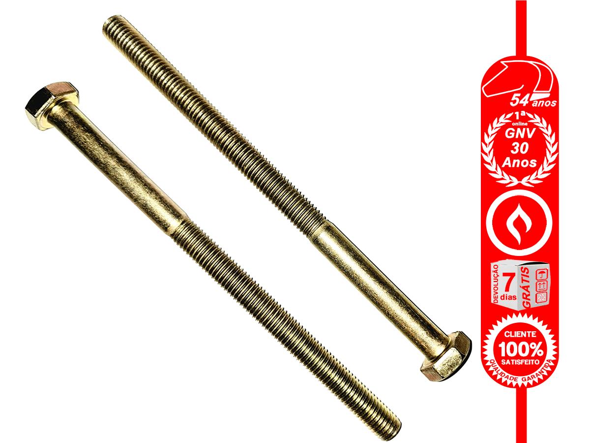 2 Parafusos 10x160mm Aço MA 8.8 Rosca 100mm