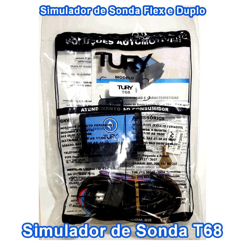 Kit 2 Simuladores Flex e Dupla Sonda Lambda 6 ou 8 cilindros