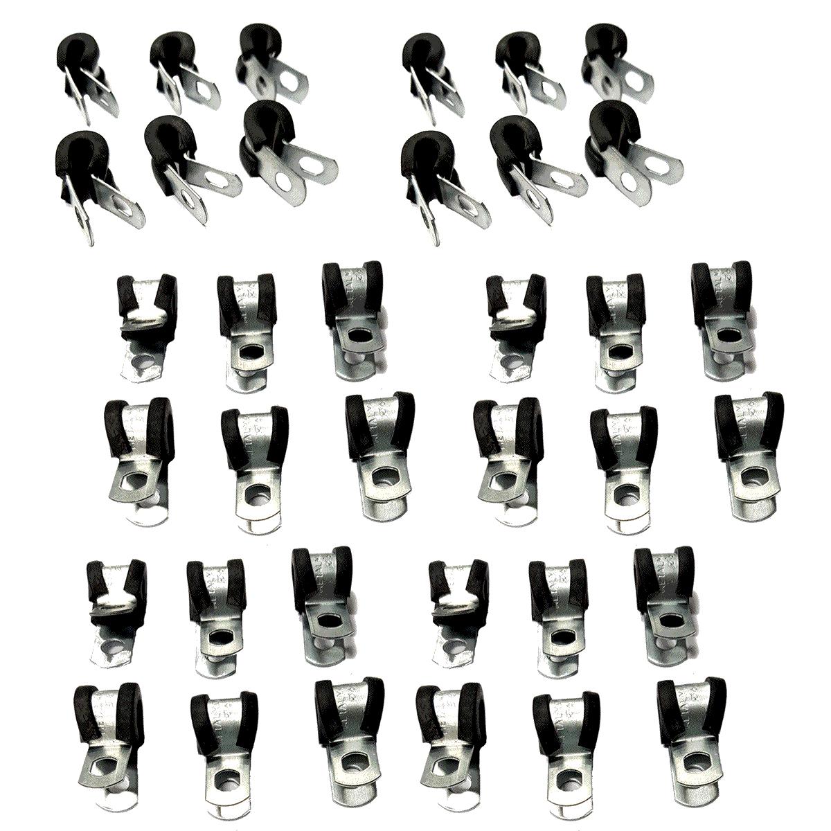 36 Abraçadeiras Metálicas com Borracha para Tubo de Alta