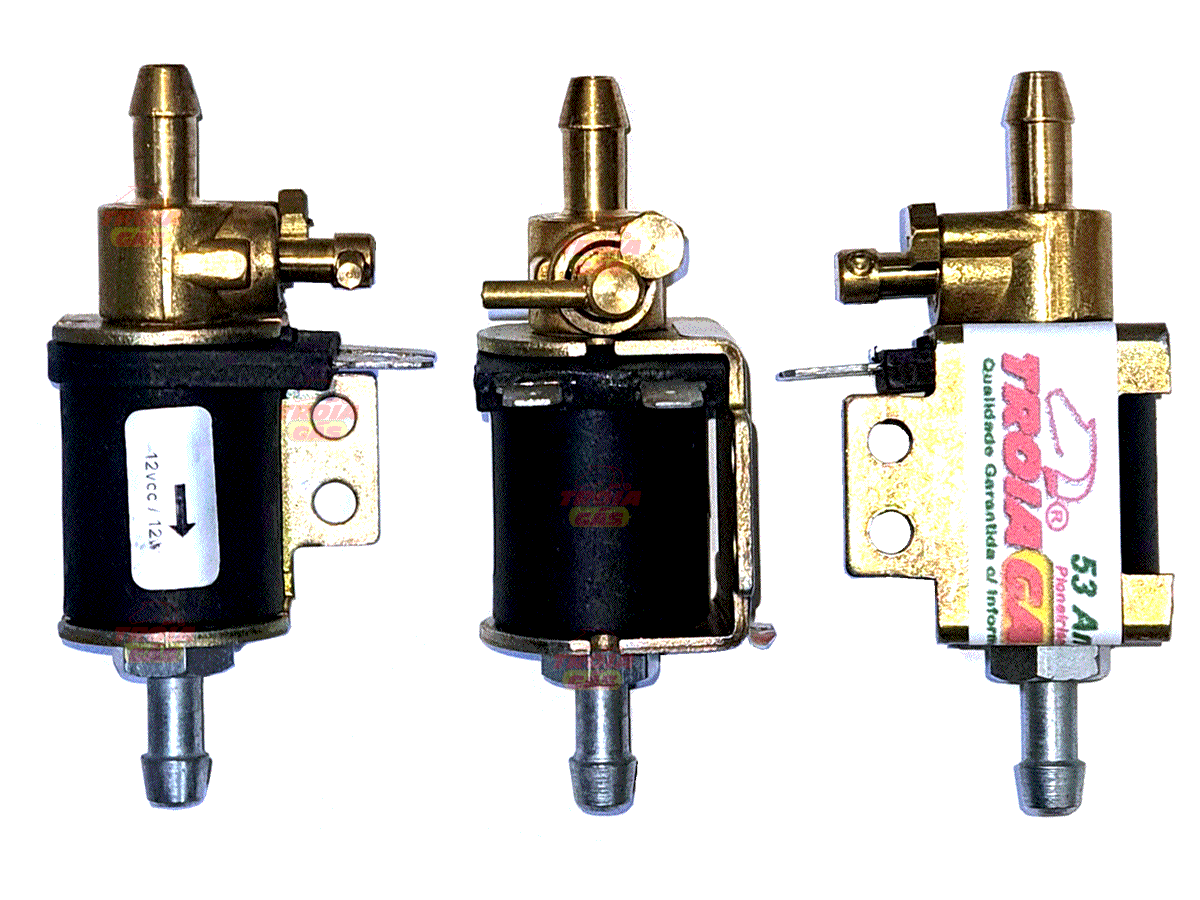 3 Eletroválvulas de Corte de Líquido p/Kit GNV Carburados