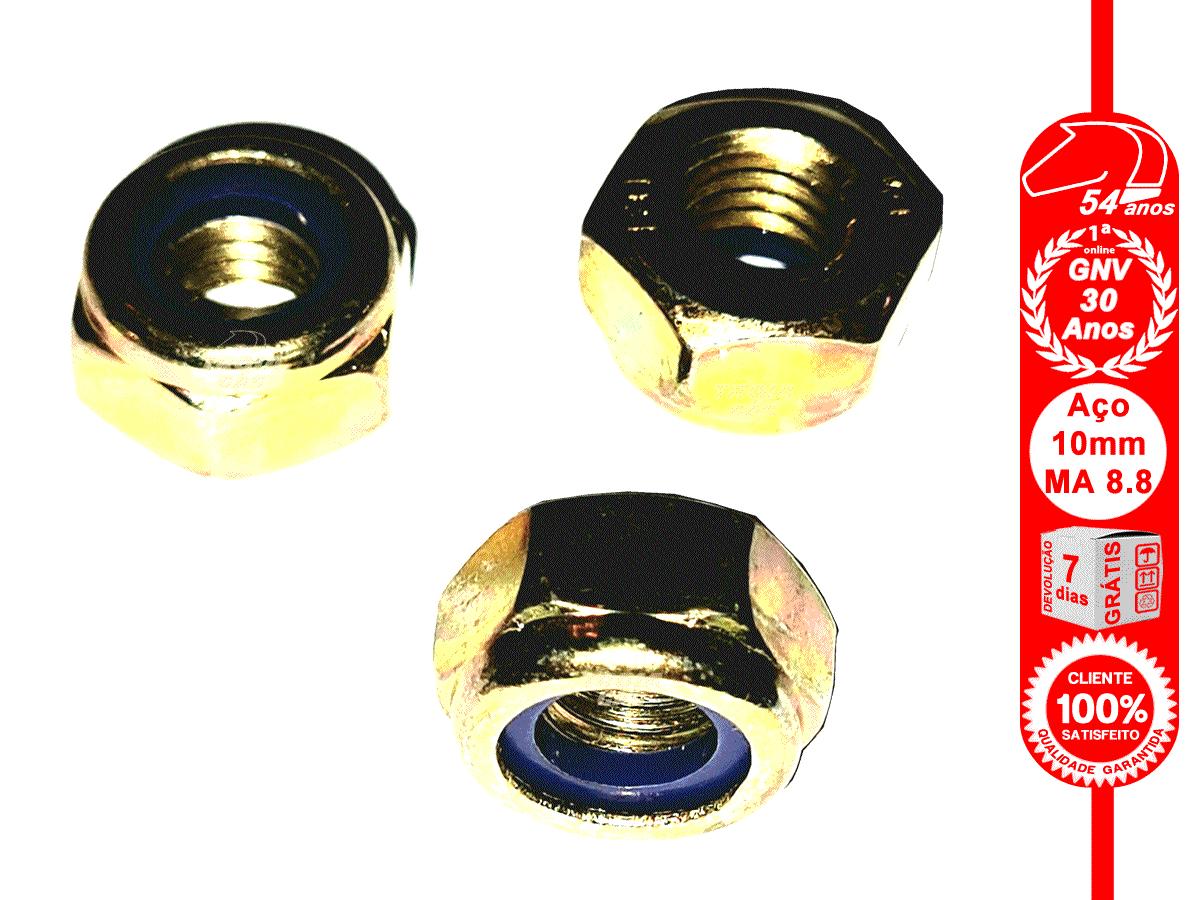 3 Parafusos 10x160mm 3 Porcas Auto Travantes Aço MA 8.8