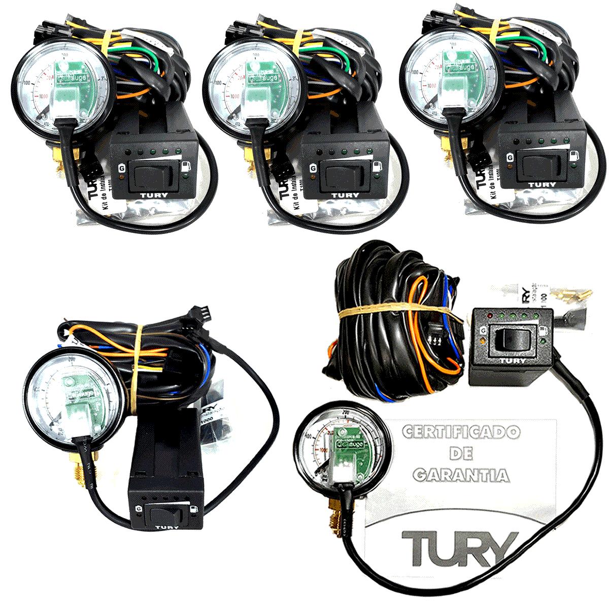 05 Comutadoras TURY T1000A Completa Manômetro Chicote p/Revenda