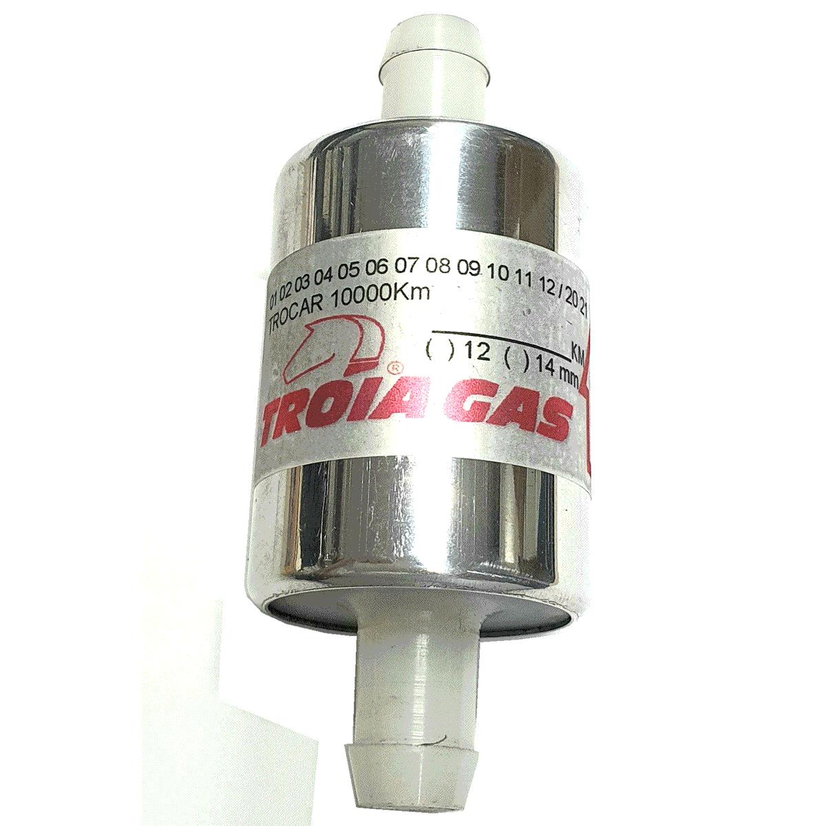 6 Filtros GNV 14 mm TROIAGAS 5ª e 6ª geração protege bicos Landi Renzo, Lovato