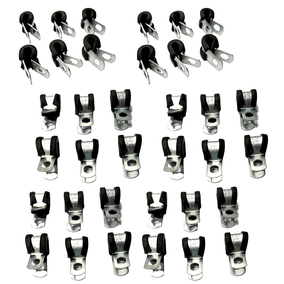 78 Abraçadeiras Metálicas com Borracha para Tubo de Alta