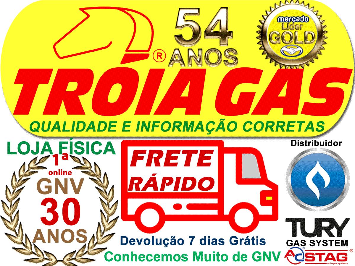 Botão STAG GNV 5ª Comutadora e Campaninha TURY GAS Qmax-300 6 cilindros