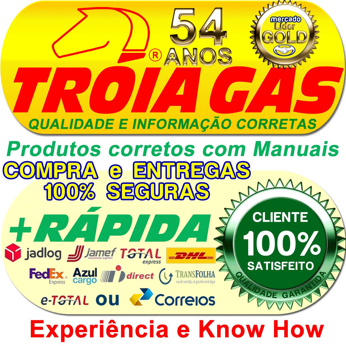 Chave Comutadora c/Manometro e Chicote T1000 A TURY GAS