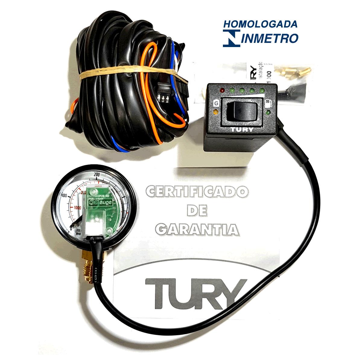 Chave Comutadora Completa GNV ou Kit Elétrico Kombi TURY T1000B