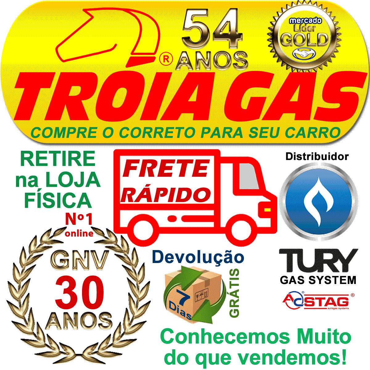 Chave Comutadora Injeção Flex T1001A GNV Completa TURY GAS