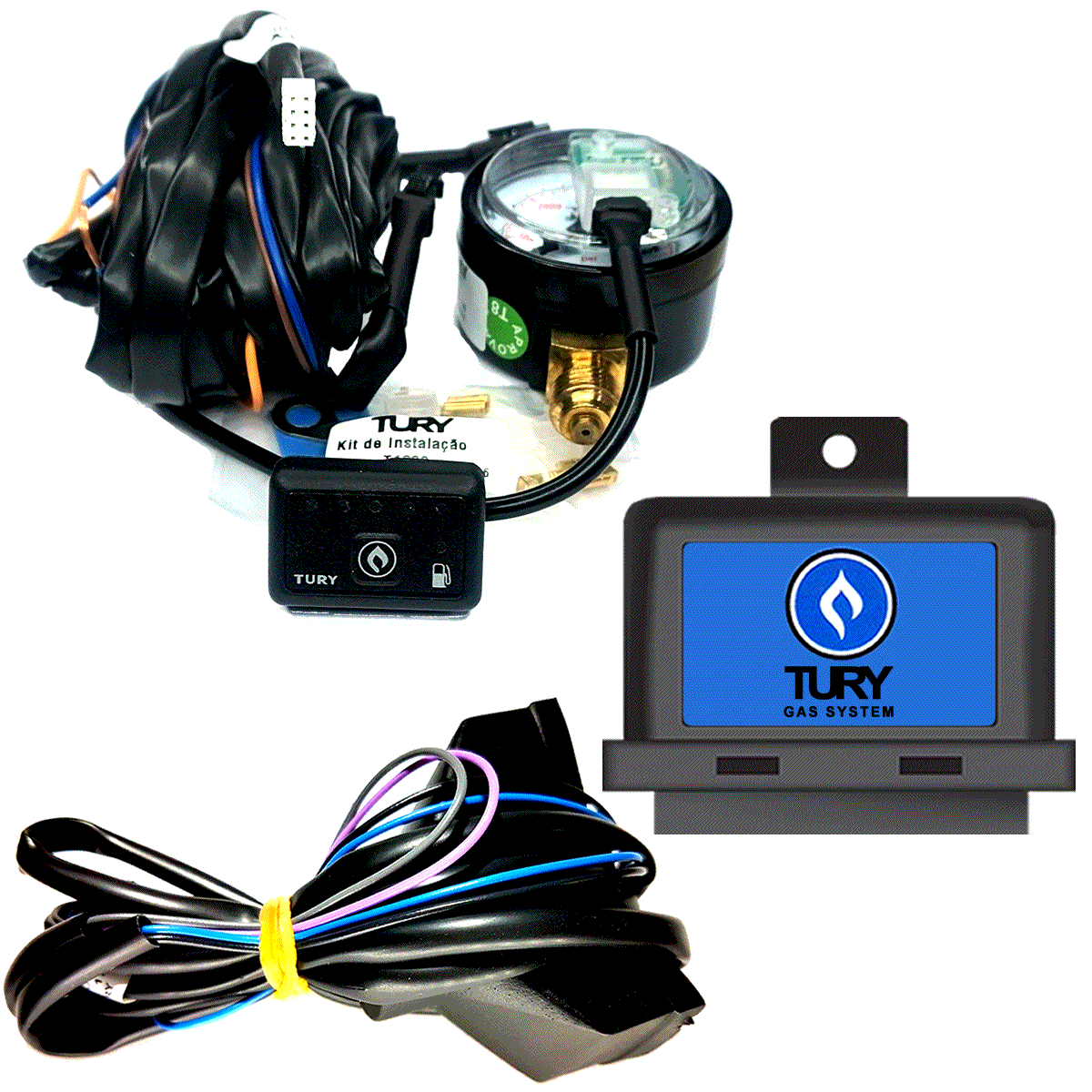 Chave Comutadora T1200A e Simulador de Sonda T65 TURY GAS