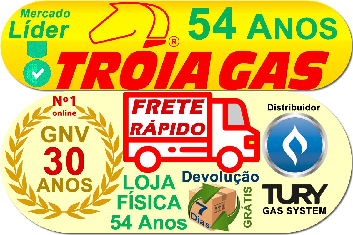Chave TURY GAS T1000A Comutadora Manômetro e Chicote
