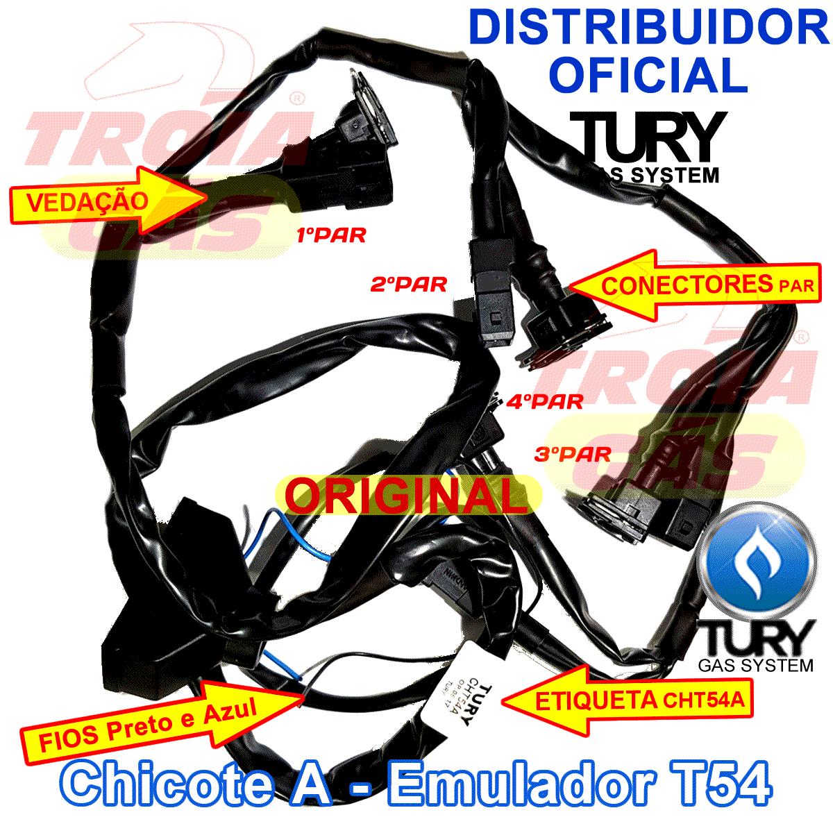 Chicote do Emulador de 6 Bicos TURY T56