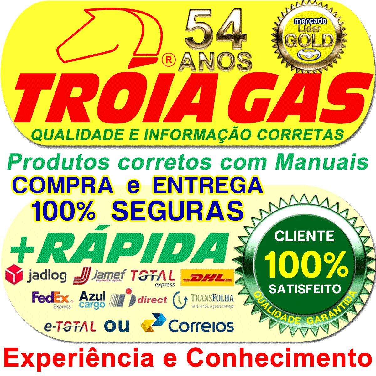 Chicote T1000 A 2,5m para Comutadora TURY GAS T1000 T1011 T1015 IGT