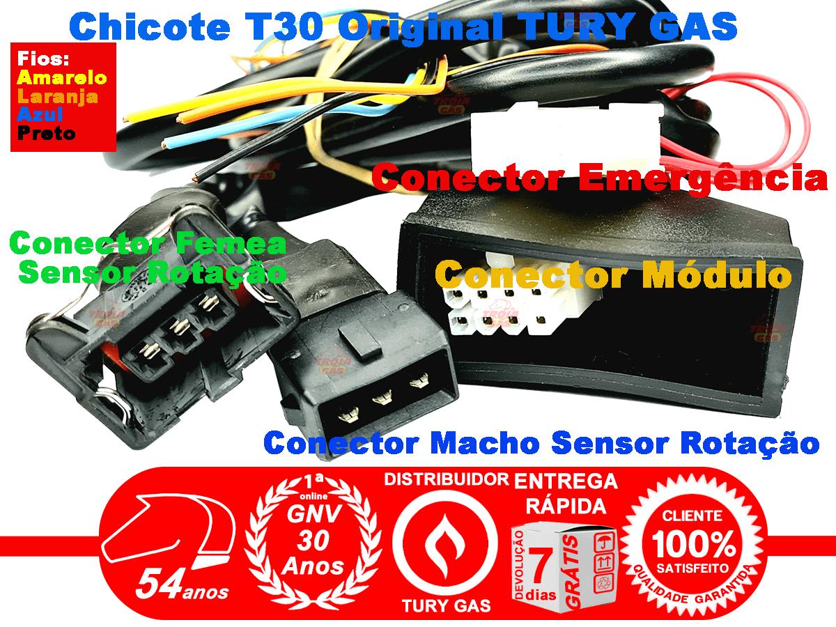 Chicote Variador TURY T30 e outro Sensor Rotação Escolha o Conector