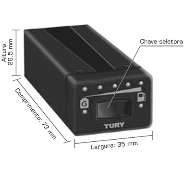 Comutadora, Chicote e Kit Instalação Comutadoras TURY IGT SGV EUROGAS SEM Manômetro