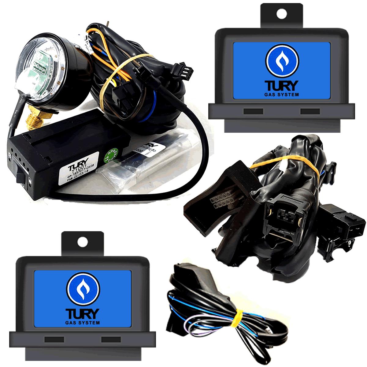 Conjunto Elétrico GNV Comutadora T1001 Emulador T54A Simulador T63 Universal
