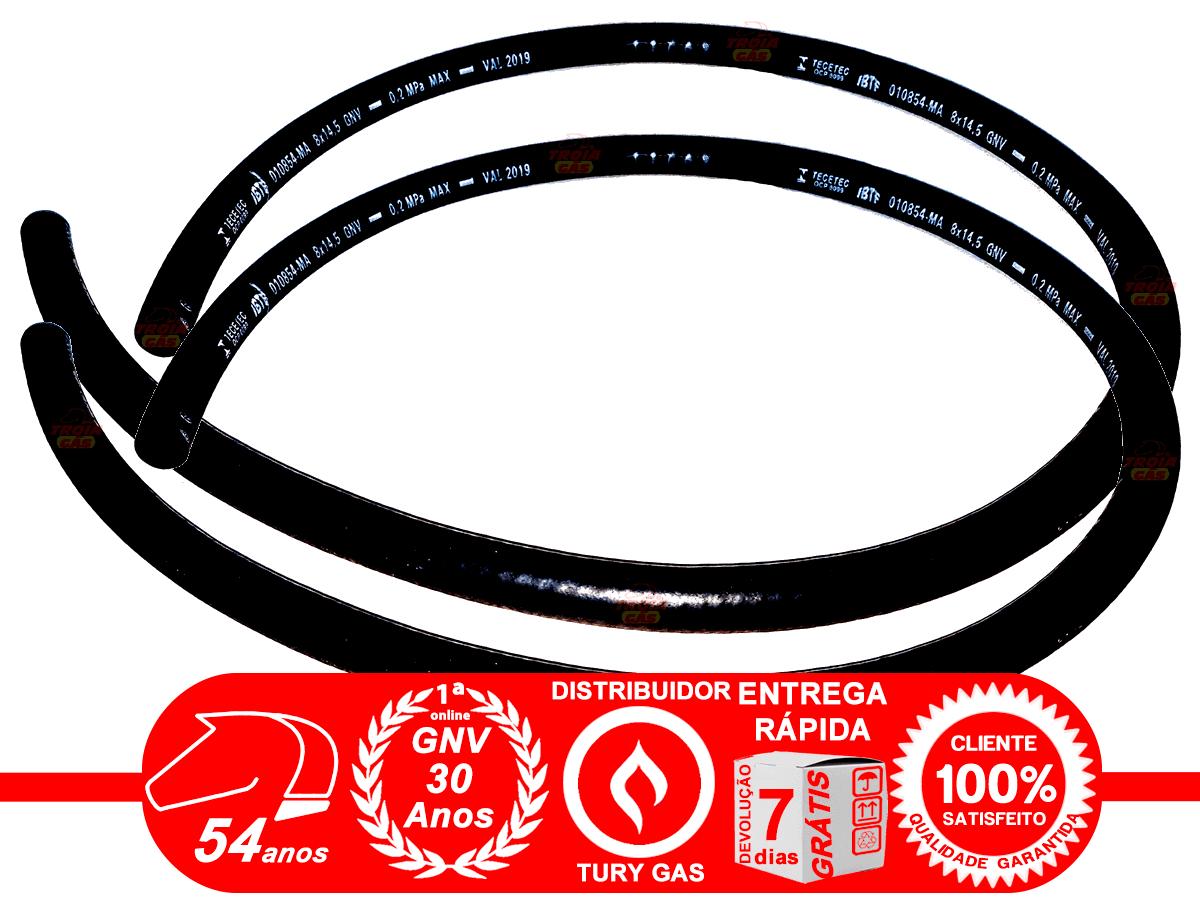 Conjunto Mangueiras 5ª geração Gás 12, Água 8 e Bicos e Vácuo 5 mm GNV