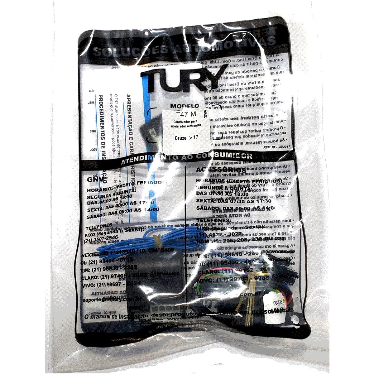 Variador Acelerador Eletrônico GNV T47 M GM Cruze Equinox Plug & Play TURY GAS