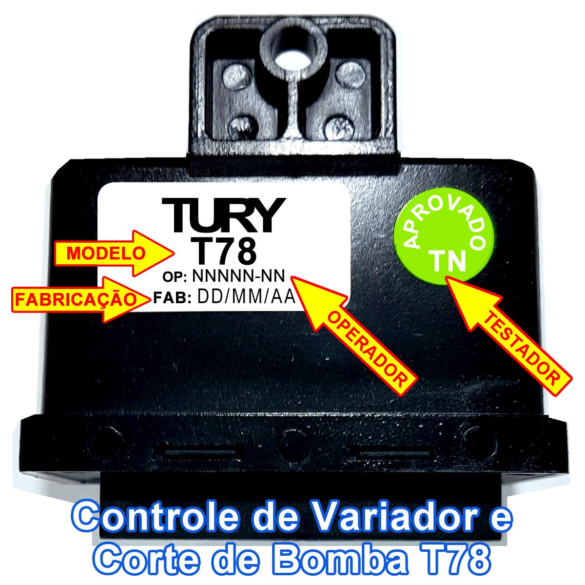 Controlador de Variador e Desliga Bomba T78 TURY GAS