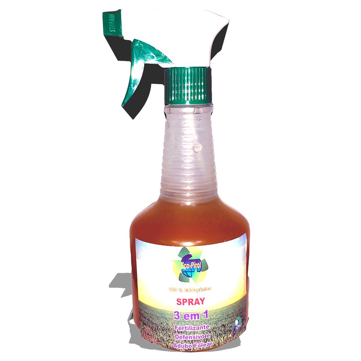 3 em 1 Spray - Ecopirol 500 ml - Defensivo, Fertilizante e Adubo Folear