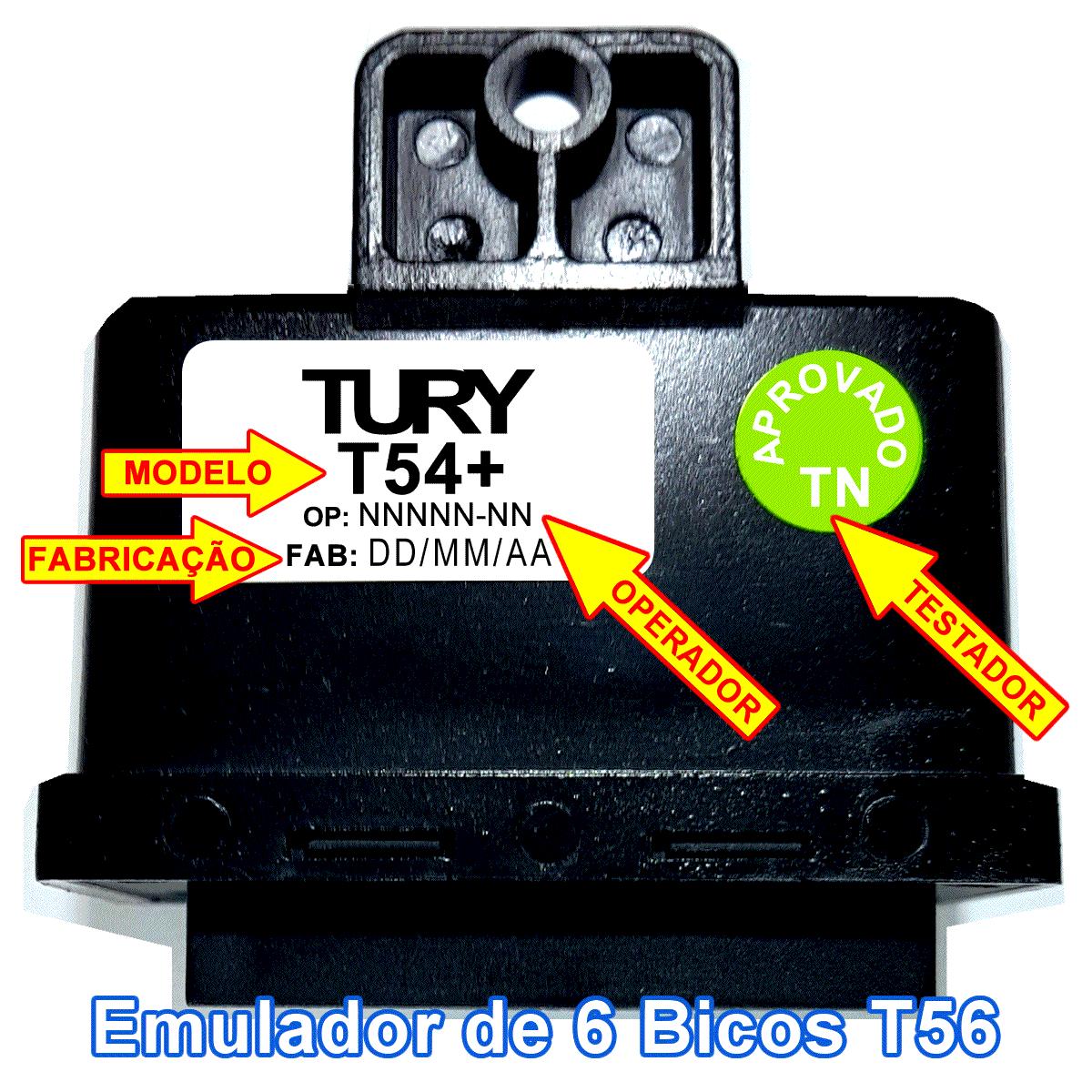 Emulador 4 Bicos T54+ c/Chicote TURY GAS Mitsubishi Renault Toyota