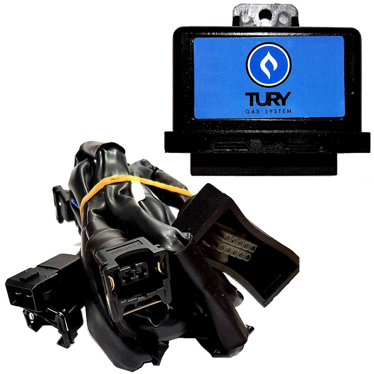 Emulador de 4 Bicos Kombi T54C c/Chicote Boxer TURY GAS