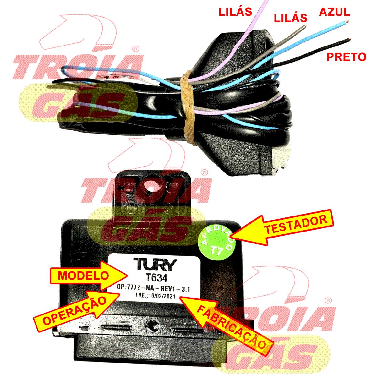 Emulador de 4 Bicos T54A e Simulador de Sonda T634 Regulável TURY GAS