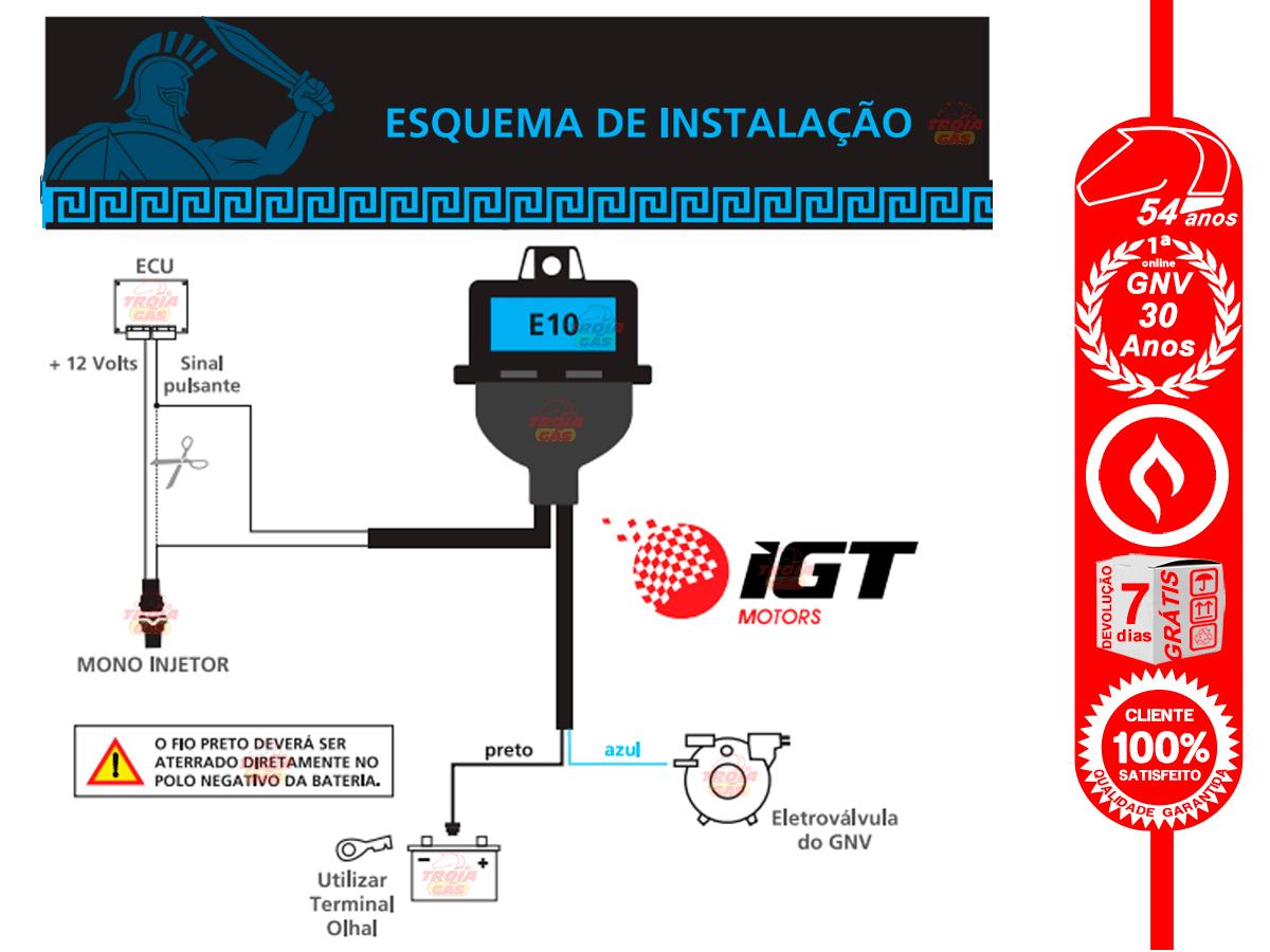 Emulador de Bico Monoinjetor Ares E10 IGT 1 bico para GNV