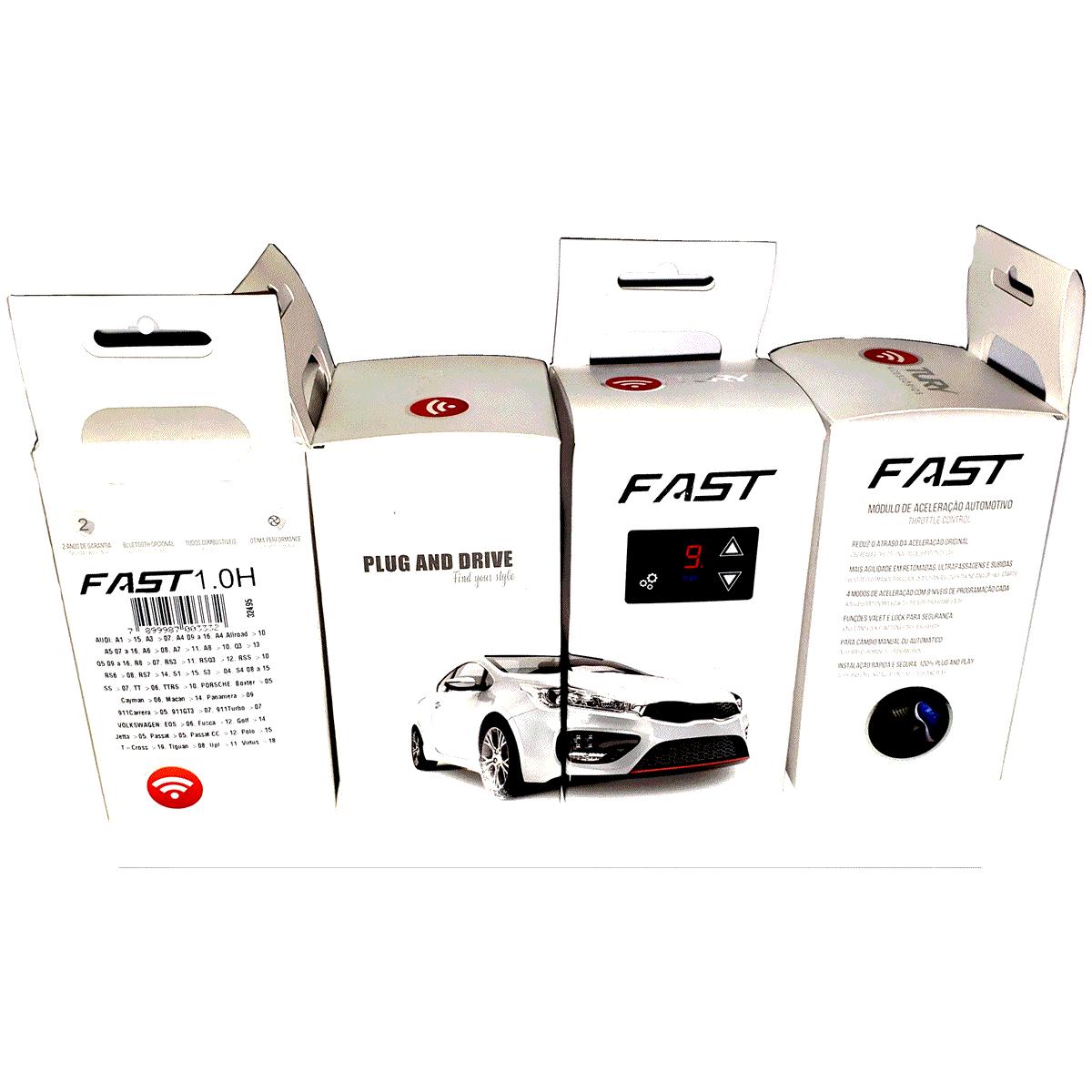 Fast 2.0 H Módulo Acelerador Audi VW Porsche Plug & Play